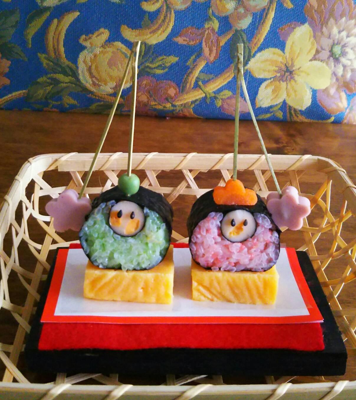 おひな祭りの★飾り巻き寿司★